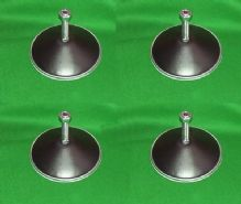 4 New Black Metal Pool Football Snooker Hockey Games Table levelling feet legs
